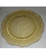 Federal 11 Inch Amber Patrician Spoke Dinner Plate Depression Glass Vint... - $14.99