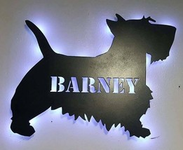 Custom Dog silhouette Lighted Sign - Breed of your choice-Name optional,... - $57.00