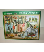 "Lovely Cat with Poster  DCBA HGFE 1000 Piece Jigsaw Puzzle 27"" x 19""0  - $15.84"