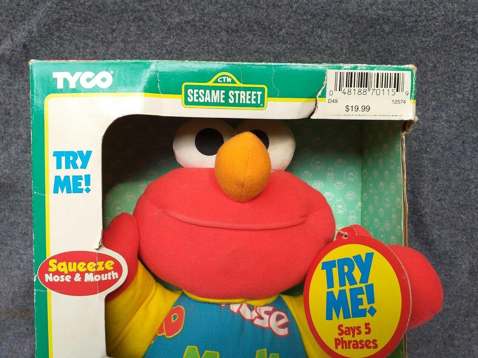 New Box Vintage Teach Me Elmo Original 90's 1996 Tyco Plush Doll Sesame Street image 3
