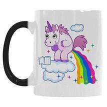 InterestPrint Funny Unicorn Rainbow Horse Animal Morphing Mug Heat Sensi... - $23.21