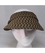 "Tweed Sun Visor 3-1/2"" Front Brim Adjustable Headwear Womens Brown Canva... - $15.99"