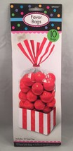 10 Striped Stripes Candy Buffet Sweet Treat Loot Party Supplies Favor Ba... - $6.92