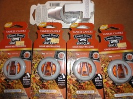 4 new yankee candle smart scent vent clip air freshener autumn wreath - $13.00