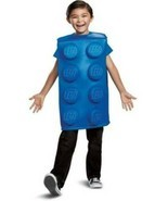 Kids Lego Block Blue 3D Tunic 1 Pc Halloween Costume-size S 4/6 - £21.52 GBP