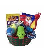 Dog Puppy Gift Box Basket Set Treat Crew Toys Package - $32.66