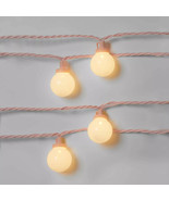 10 count LED Frosted Globes with Wire - Sun Squad- Pink wire - $13.81