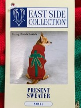 East Side Collection Dog Present Sweater Red Green Holiday Turtleneck Pet Sz S - $10.69