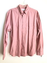 EVERLANE Men's Button Down Shirt Red Pink Oxford Cotton Size Large - $32.81