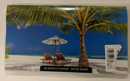 """2019-2020 2-Year Pocket Planner """"Beach Scene"""" For School, Work, Appointment - $2.00"""