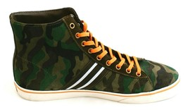 Polo Ralph Lauren Suede Green & Black Camouflage Hi Top Sneakers Men's NEW - $152.66 CAD