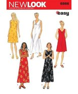New Look Sewing Pattern 6866 Misses Dresses, Size A (S-M-L-XL) - $11.27