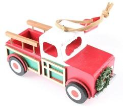 Wondershop Target Pickup Truck Wooden Christmas Ornament 2018 Wreath New w Tag image 2