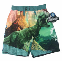 NWT Jurassic World Size 6-7 Boys Swim Trunks Swimsuit Shorts Dinosaur - $11.87