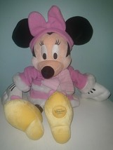 Disney Store Exclusive Minnie Mouse Stuffed Plush Christmas Snowman Pink... - $9.99