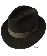 Dobbs Fedora - Steve Harvey Collection - The Waverly  - Size 7 1/8 - Black - $143.55