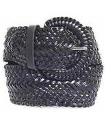 """Narrow 1 3/4""""  Black Braided Belt for Women Leather 1.75"""" Cinch Fashion ... - $15.99"""