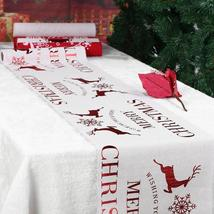Christmas Table Tablecloth Xmas Elk New Year Party Dinner Table Decorati... - $12.48