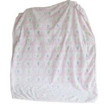 Pink Elephant Fleece Baby Blanket