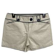 Ann Taylor women's hot pants shorts formal linen cotton beige size 10 - $13.85