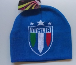 Officially License Soccer NATIONAL TEAM ITALIA Soccer Beanie  - £14.46 GBP
