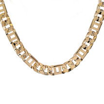 "Mens 10K Yellow Gold Square Tigereye Chain 24"" Inches 102.3 Grams - $6,583.50"
