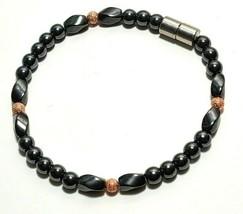 Beaded Bracelet Magnetic Hematite Clasp Single Strand   7.5 Inch   (MAG-025) image 2