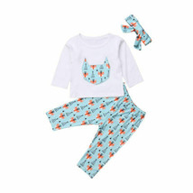 2018 Cute Kids Coton 3Pcs Newborn Baby Girl Boy Fall Clothes Long Sleeve - $11.77+