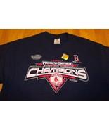 BOSTON RED SOX MLB  World Series CHAMPIONS T-Shirt LARGE NEW - $18.32
