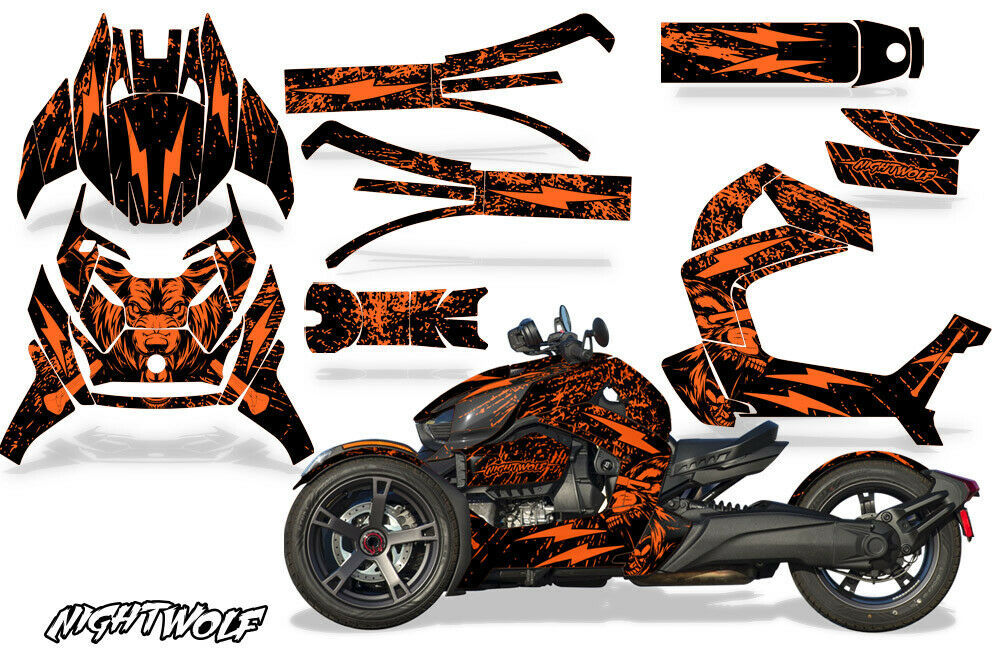 Full Body Wrap Graphic Sticker Decal for Can-Am Ryker 2019 - Nightwolf Orange