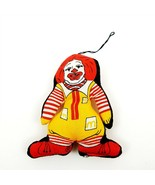 "Ronald McDonald Stuffed Cloth Plush Doll Christmas Ornament 4"" Tall Vint... - $9.49"
