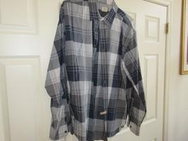 J. CREW, Size XL , 17-17 1/2 , Men's Long Sleeve Shirt , 100% Cotton ,Gray/Black - $29.65