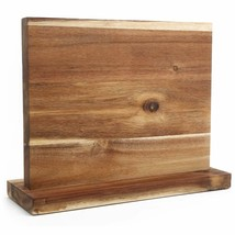 Magnetic Knife Wooden Block Holder Rack Magnetic Stands with Strong Enha... - $93.05+