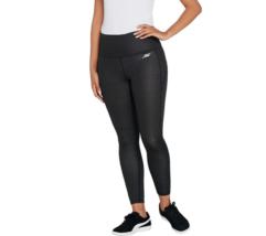 Skechers Apparel 7/8 Dot High Waist Leggings, Black, XL - $29.69