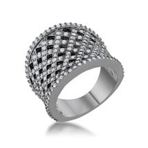 Brin 1.4ct CZ Hematite Wide Woven Style Ring - $37.00