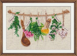 Cross Stitch Kit Hand Embroidery Kitchen Flowers - $28.00