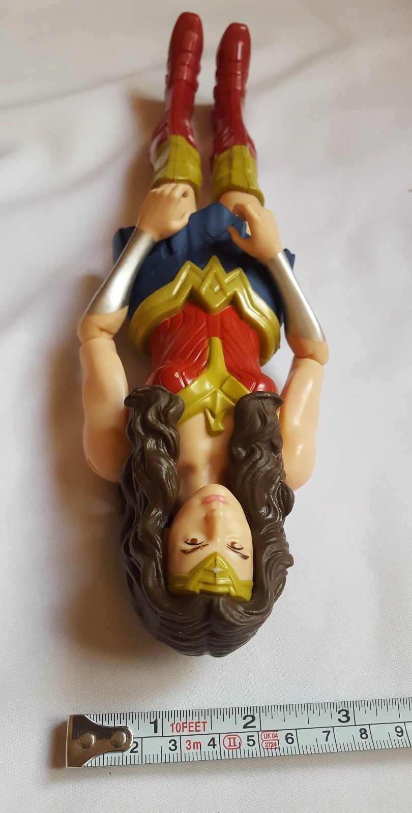 2015 Mattel DC Wonder Woman Doll kids toy pre-owned hard plastic 12""