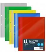 A4 Report Folder File Bar Holder Transparent Tough Organised Planner Dia... - $5.09+