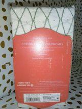 KING Cotton Percale Printed Pillowcase Set Sayulita White Green - Opalhouse   image 3
