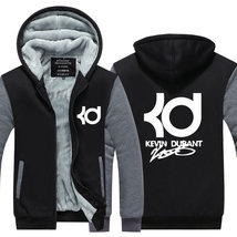 Kevin Durant Logo Long Sleeve  Hoodie warm Winter Casual Thicken Coat   - $55.99
