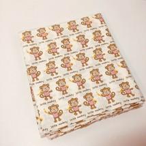 "2 Yards Little Monkey Fabric 44"" wide JoAnn Fabrics 100% Cotton - $13.54"