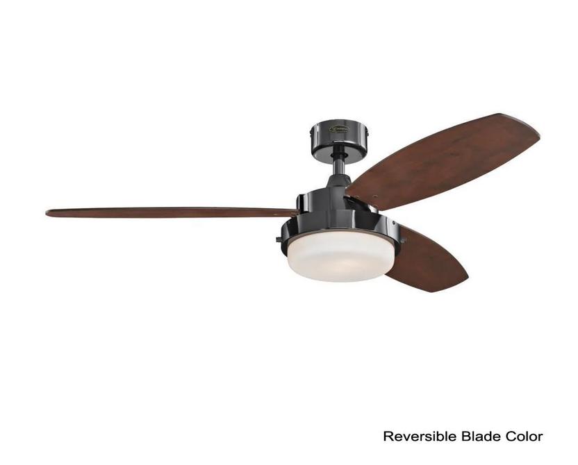 "Westinghouse 72053 Alloy 52"" Gun Metal Indoor Ceiling Fan Black/Brown Blades LED - $128.69"