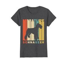 Vintage Style Miniature Schnauzer Silhouette T-Shirt - $19.99+