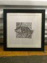 Jane Wena Ink Design Fish Drawing 2009 Signed Australian Indigenous Framed - $198.00
