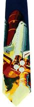USA Space Shuttle Men's Neck Tie Ralph Marlin NASA Spacecraft Silk Blue Neck Tie - $29.65