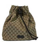 NEW GUCCI 449175 Canvas Original GG Drawstring Backpack - $1,310.00