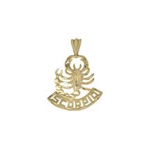 14K Yellow Gold Diamond Cut Scorpion Charm - $157.41
