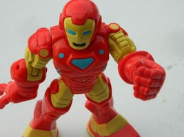 2012 Hasbro  Iron Man Red Yellow Arms Wind Up Moveable Toy Action Figure... - $17.09