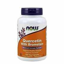 NEW NOW Quercetin w/ Bromelain for Balance Immune System Supplement 120 VegiCaps - $25.13