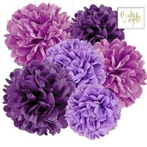 Andaz Press Hanging Tissue Paper Pom Poms Party Decor Trio Kit with Free... - £13.13 GBP